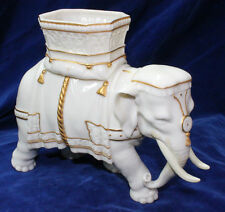 RARE ANTIQUE c.1865 ROYAL WORCESTER ELEPHANT VASE HADLEY