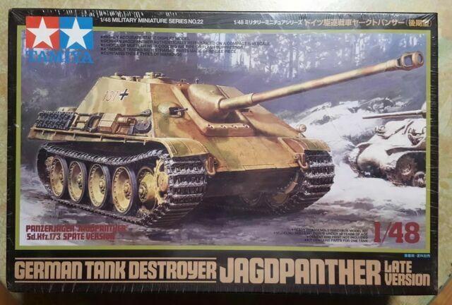 Tamiya 32522 German Tank Destroyer Jagdpanther Late Version 1//48 Scale Kit for sale online