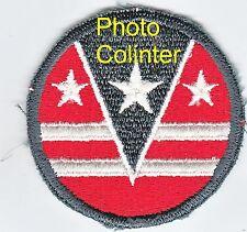 124th ARCOM -  Ecusson / Insigne tissus - Flat edge - années 50/60