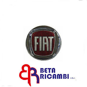 logo stemma fregio rosso anteriore diametro 95mm fiat grande punto ebay. Black Bedroom Furniture Sets. Home Design Ideas