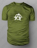Anarchy Punk Skate Stencil Design T shirt Tee S-XXL SAMCRO SOA SONS PEACE GREEN