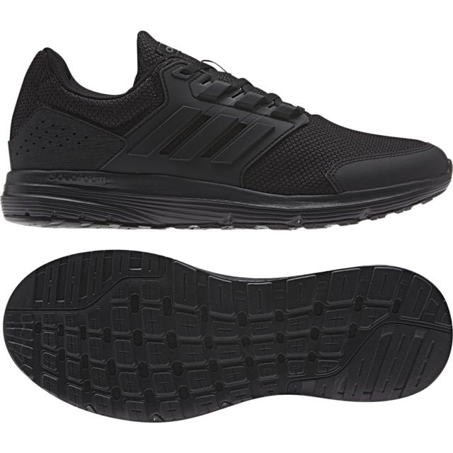 Adidas Men Running Shoes Galaxy 4 Trainers Cloudfoam Training Black F36171 New