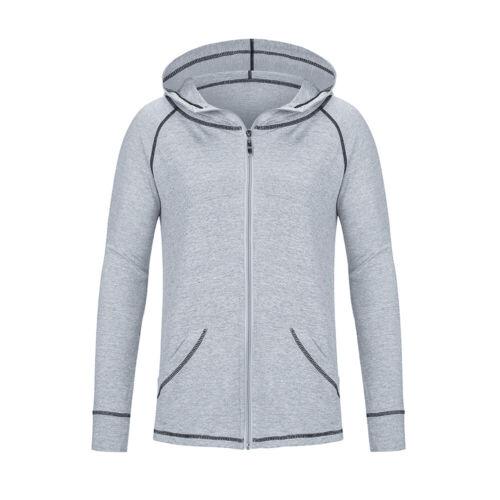 Women Plus Active Tracksuit Hoodie Yoga Finess S-3X Sweatshirt Long Sleeve Top
