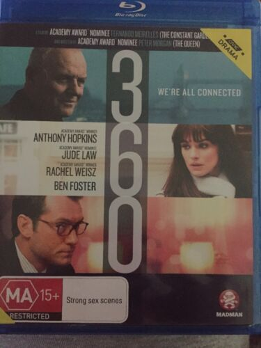 1 of 1 - 360 - Blu Ray Region B - Anthony Hopkins - We're All Connected - Free Post!