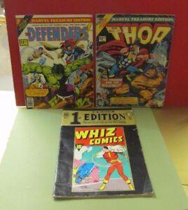 Marvel Comics Lot Of 9 The Punisher Magazines Treasury Edition Thor
