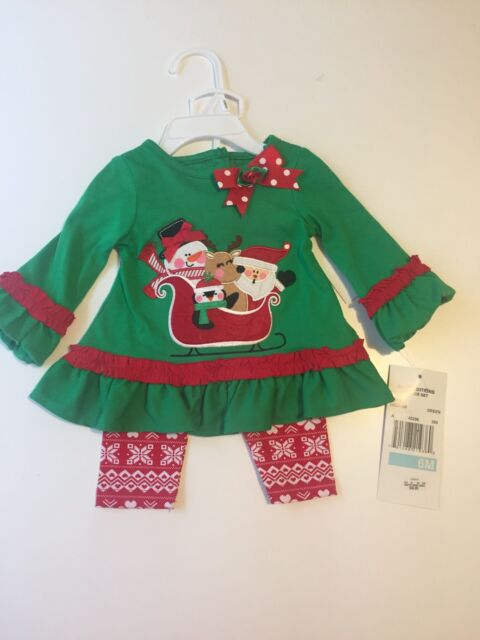 Girl's Rare Editions Christmas Outfit, Size: 6 Months - Sleigh Ride - Girl's RARE Editions Christmas Outfit Size 6 Months - Sleigh Ride EBay