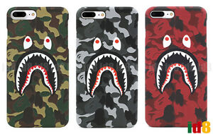 promo code a74b5 c0d84 Details about A Bathing Ape Bape ABC Camo Shark Phone Case For iPhone XS  Max XR X 8 7 Plus 6