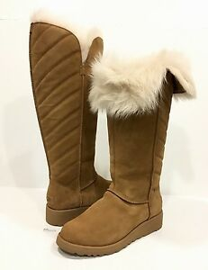 4e4e79d4a Image is loading UGG-1012390-ROSALIND-TALL-BOOTS-BROWN-CHESTNUT