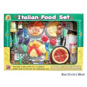 Italian Dinner Set International Ethnic Food Kids Toy Pretend Play Kitchen Ebay