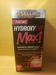 HYDROXYCUT MAX ! For Women Powerful Weight Loss, 80 Liquid Caps Exp: 09/2021