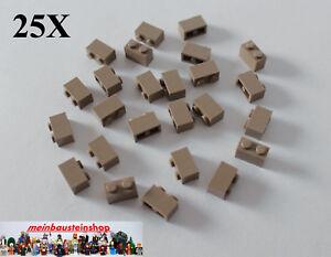 25X Lego® 3004 Basic Steine Bricks 1X2 Dunkelbeige Dark Tan NEU