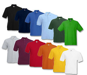 riesiges Inventar am besten geliebt Neuestes Design Details zu 2er FRUIT OF THE LOOM POLOSHIRT PIQUE HERREN POLO SHIRTS M L XL  XXL XXXL 4XL 5XL