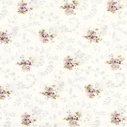 AU MAISON Wachstuch Emily Lavender Blümchen beschichtete Baumwolle 0,5 Meter