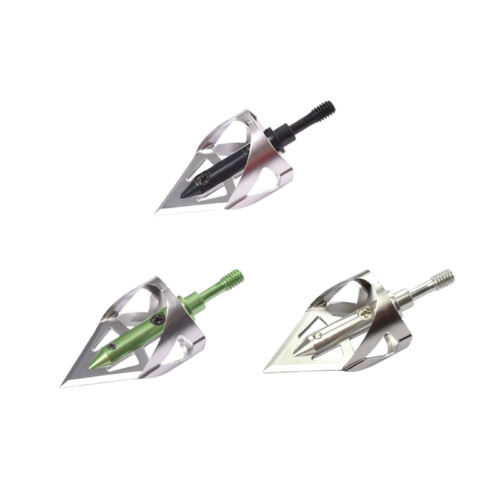 100 Grain Crossbow Broadheads Arrow Blade Points Target Hunting Outdoor Shooting