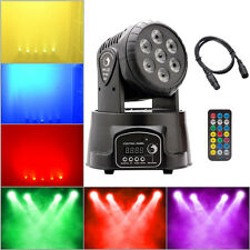 70W 7X RGBW LED Moving Head Stage Light DMX DJ Disco Party Lighting + DMX Cable