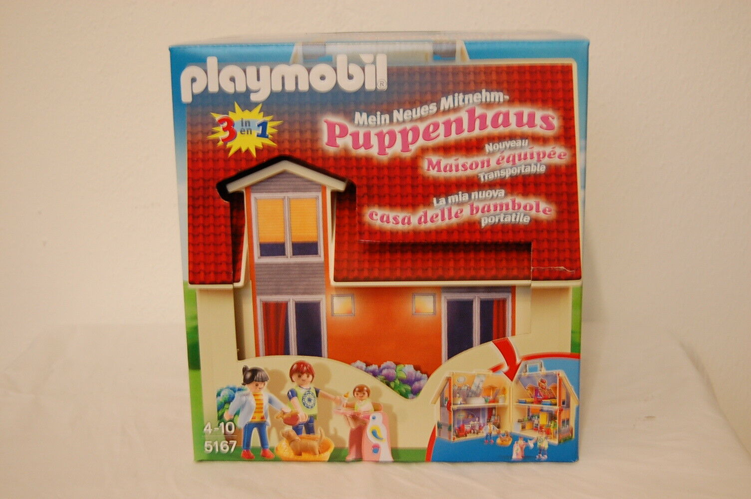 PLAYMOBIL 5167 Neues Mitnehm-Puppenhaus Neu OVP