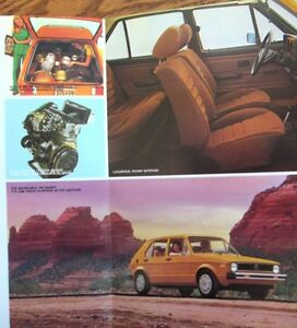 1978-VW-Volkswagen-Rabbit-Folder-Brochure-MINT