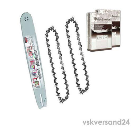 Schwert 38cm 3//8*1,5*56 passend für Husqvarna 285 288 298 3120 365 371+2 Ketten