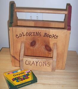 Image Is Loading Wood Primitive Art Magazine Book Storage Rack Coloring