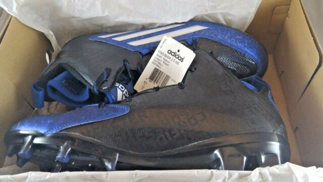 sports shoes 7e360 fb2a4 New Adidas Crazyquick 2.0 Mid Size 10 Football Cleats Black   Royal Blue  S83957