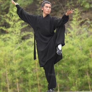 4bcc5e6a0 Linen Shaolin Monk Wudang Taoist Robe Kung fu Uniform Tai chi ...