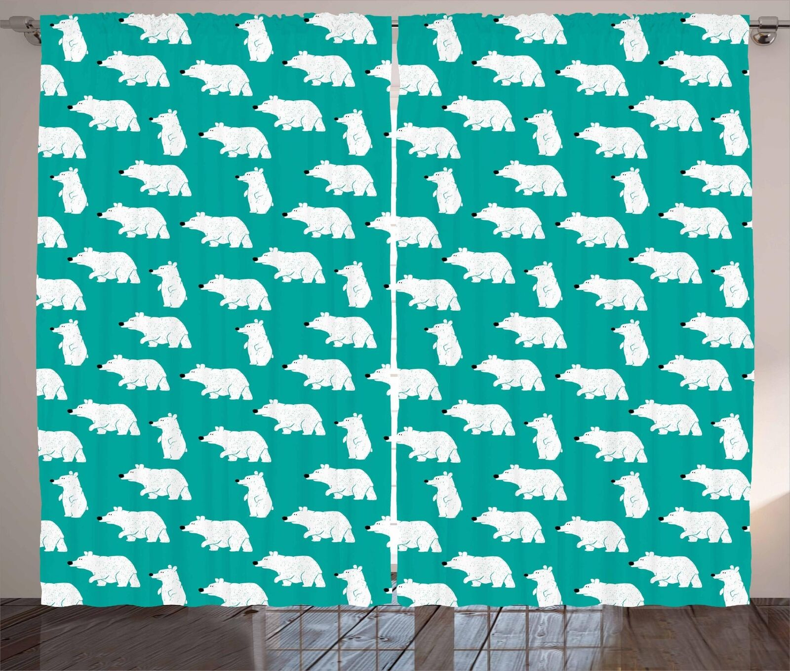 Cartoon Woodland Curtains 2 Panel Set for Decor 5 Größes Available Window Drapes