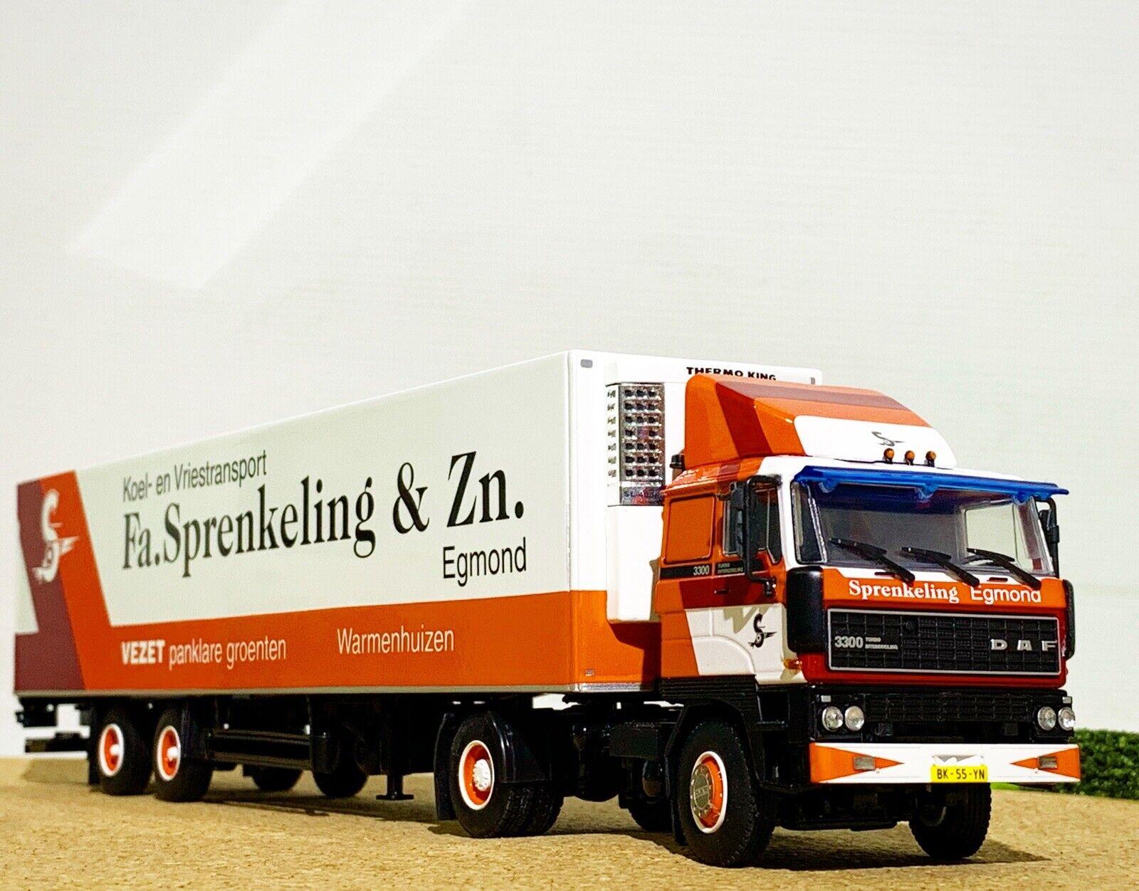 WSI camión Modelos, DAF 3300,4x2 hierba Remolque 2 Eje  Fa. sprenkeling & Zn