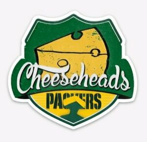 Green Bay Packers Cheese Heads MAGNET - Premium Vinyl for NFL Fans Wisconsin