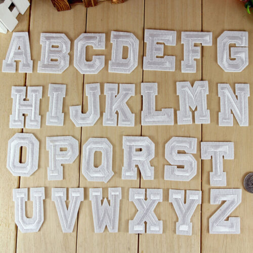 26 letters Embroidery Iron on patch sewn For.clothing applique backpack Motif L