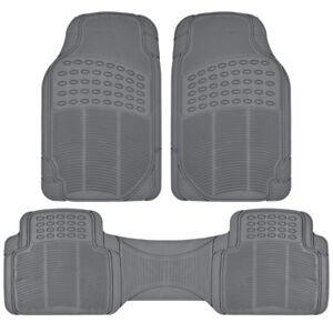 Rubber Liner for Honda CR-V Floor Mats Gray 3 Piece Semi Custom Fit All Weather