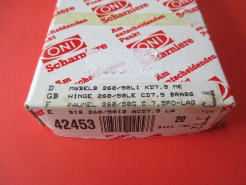 Lappenband ONI Möbelband 260 Messing poliert 50mm links Kröpfung D 7,5