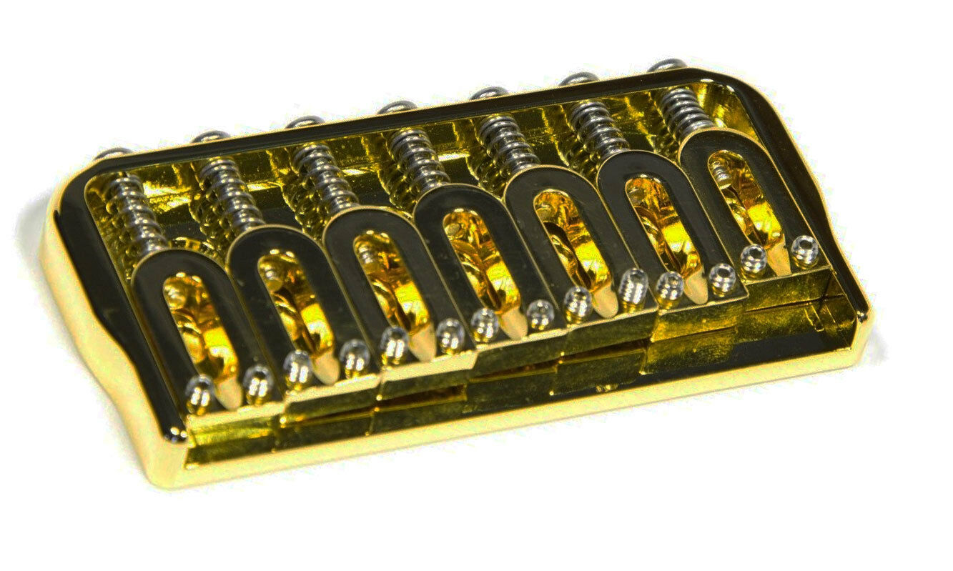 Hipshot 41070G 7-String Hardtail Fixed Electric Guitar Bridge .125  - Gold