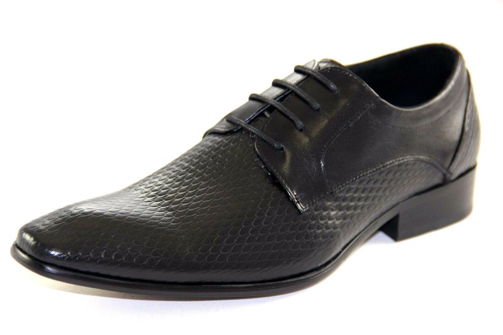 SALO NEW YORK Men's Black Leather Oxford new shoes shoes Style 968-7092