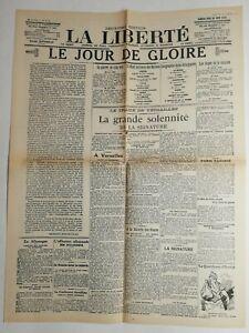 N512-La-Une-Du-Journal-La-liberte-28-juin-1919-le-jour-de-gloire-geurre-cinq-ans