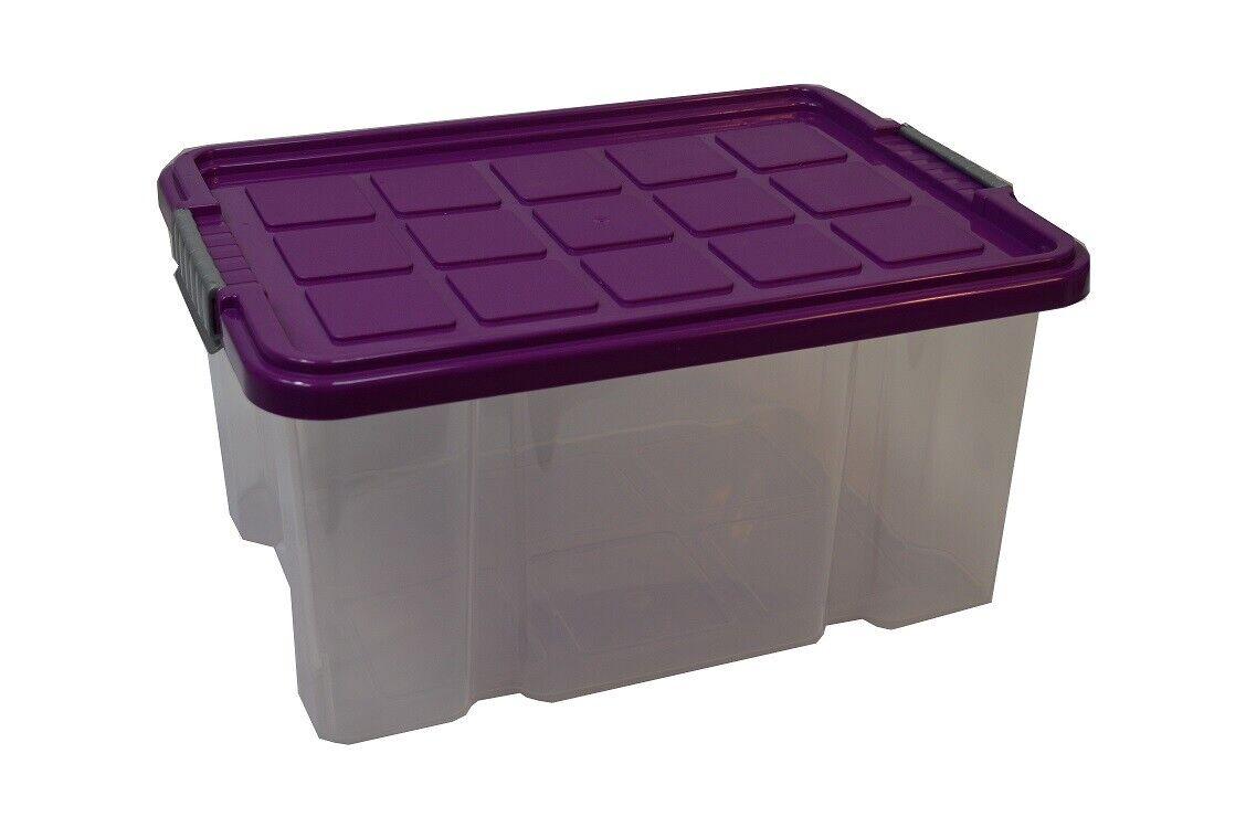 5X Stapelbox + Deckel Aufbewahrungsbox Eurobox 40 5X29x20 5cm 15L transp.Unibox