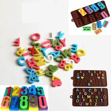 3D Silicone Alphabet Letter Number Chocolate Cake Fondant Candy Mold Mould Tools
