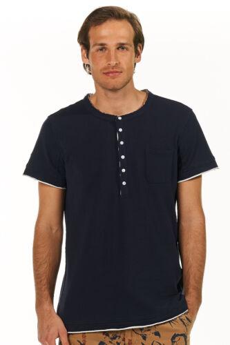 Salamandra Camiseta hombre Henley-escote azul casual nuevo 59 €