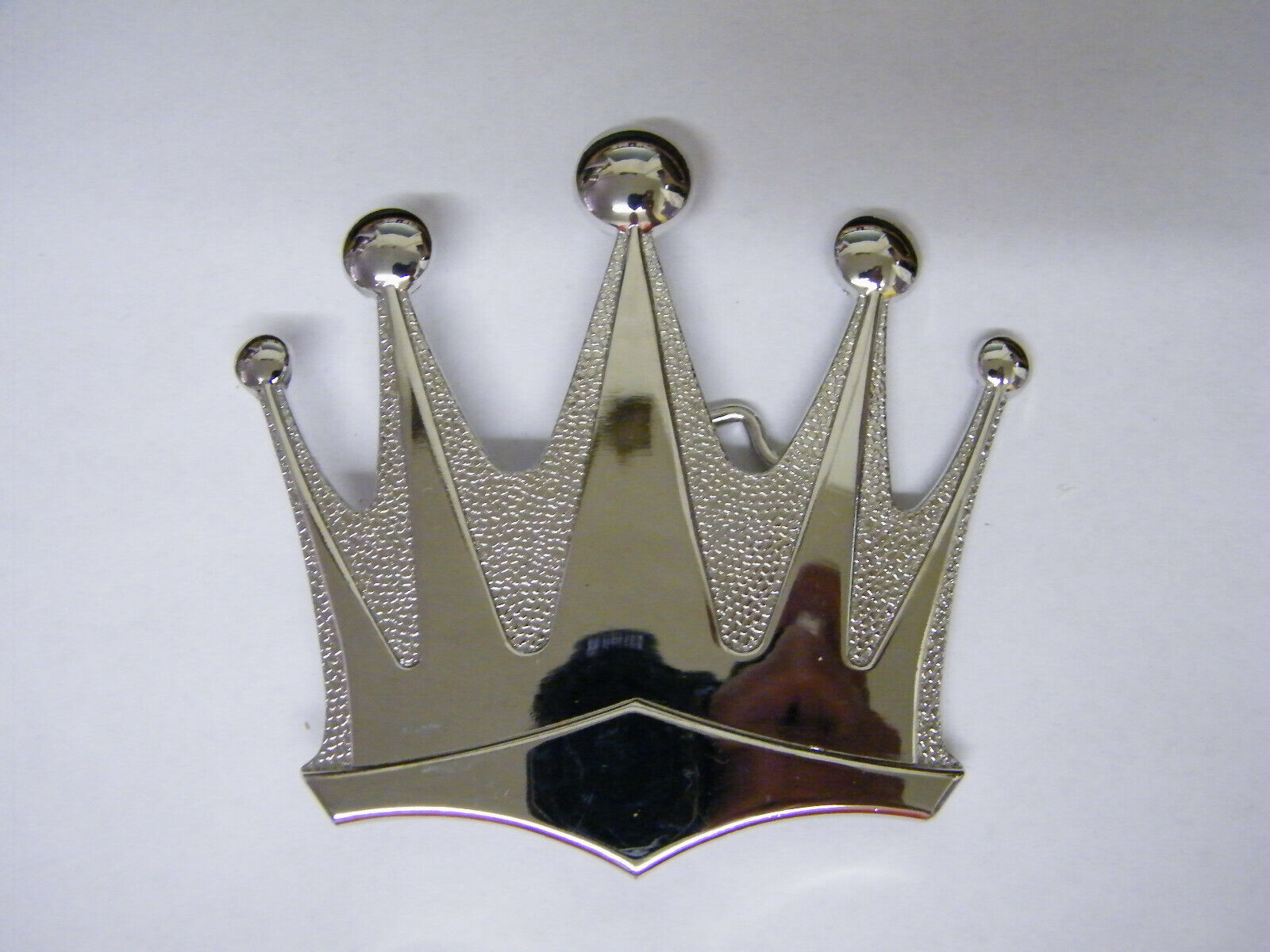 Silver Colored Crown Belt Buckle