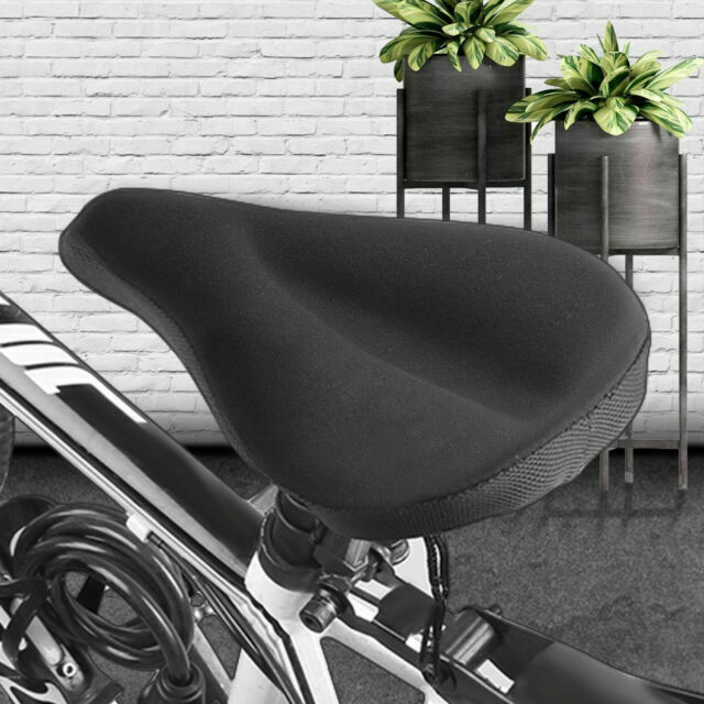 Soft Saddle Pad Cushion Cover Gel Silicone Seat for Mountain Bike Bicycle