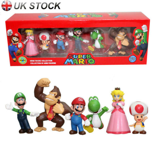 6pcs PVC Super Mario Bros.4 Series Game Action Figure Doll Toy Cake Topper UK
