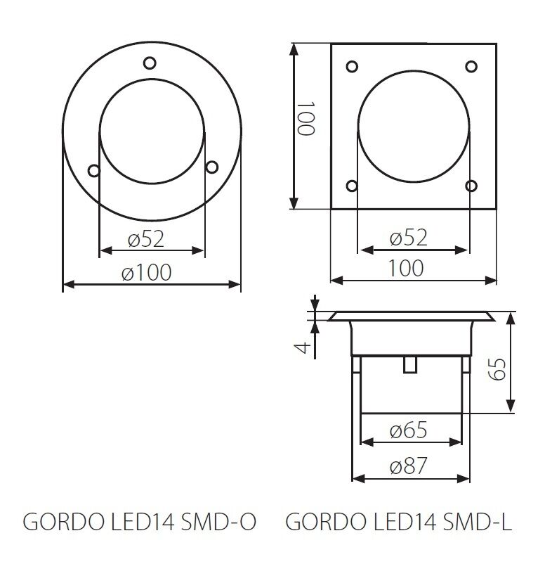 6er-Set Bodenleuchte LED Bodeneinbaustrahler GORDO 0.7W SMD eckig Edelstahl weiß weiß weiß b595b4