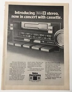 1978-Delco-GM-Electronics-Car-Cassette-Tape-Player-Full-Page-Print-Magazine-Ad