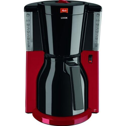 MELITTA Look IV therm base 1011-18 noir-rouge Filtre-Machine à café thermkann