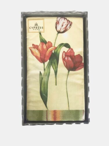 NEW Cypress Home Tulip Paper Guest Towels Buffet Napkins 15 Count