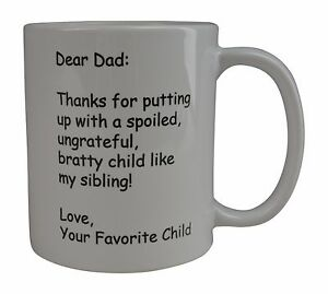 Details About Funny Coffee Mug Dear Dad Thank You Novelty Cup Great Gift Idea Father S Day Pop