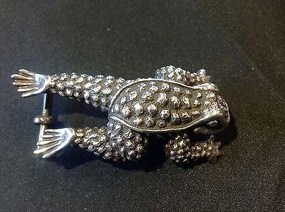 Rare! 1991 B. kieselstein Cord Toad Frog 1171 .925 Silver Belt Buckle