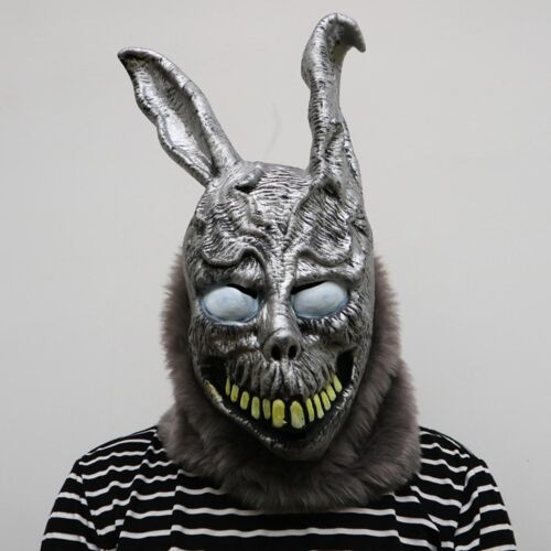Horror Natural Latex Rabbit Devil Full Face Cosplay Halloween Mask Props LJ109