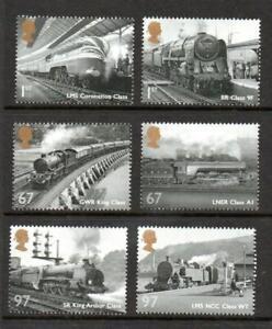 2010 GREAT BRITISH RAILWAYS Stamp Set MNH SG3109-3114 GB Unmounted Mint UMM
