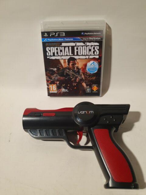 Socom Special Forces PS3 Playstation 3 & Venom Move Controller Light Gun