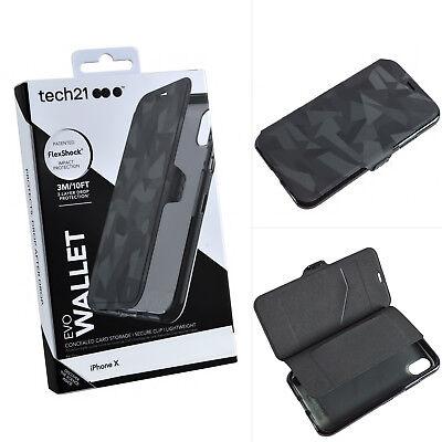 the best attitude ab248 5f68e Genuine Tech21 Evo Dual Wallet Protective Flip Folio Case Cover For iPhone  X XS 5025744399444 | eBay
